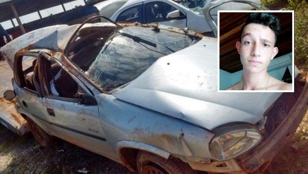 Adolescente morre após carro sair da pista e capotar em rodovia; dois feridos
