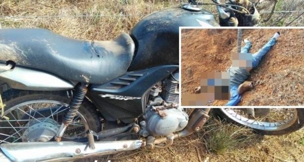 Homem é encontrado morto ao lado de moto com placas de Cuiabá