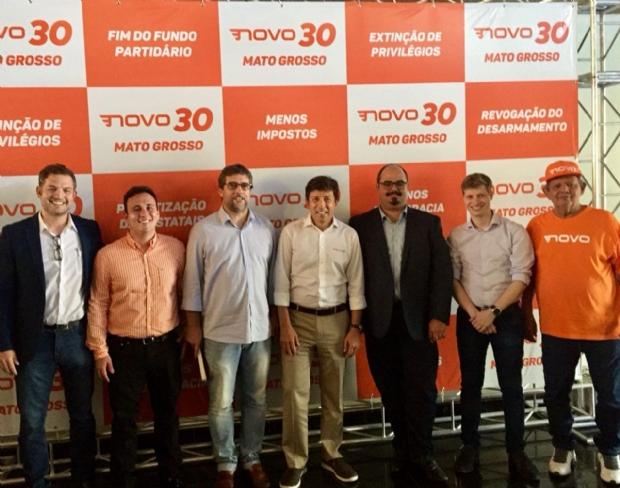 Partido Novo apresenta seus pré-candidatos durante evento em Cuiabá: foco na eleição de representantes no Congresso