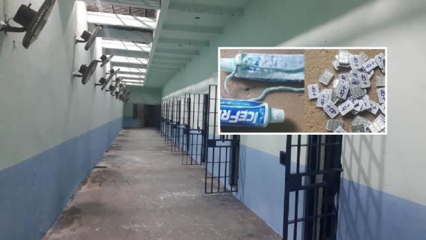 Após visitas na PCE, agentes apreendem novos chips, celulares e até tinta para esconder buracos em parede;  vídeo