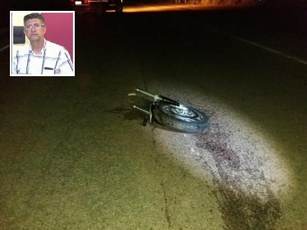 Com impacto, moto ficou completamente destruída