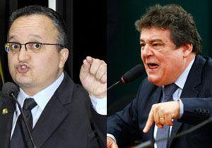 Senador Pedro Taques (PDT-MT) e deputado federal Silvio Costa (PTB-PE) discutem durante CPI