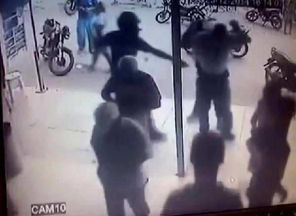 Criminosos roubam arma de policial militar em lotérica de Cuiabá;  veja o vídeo