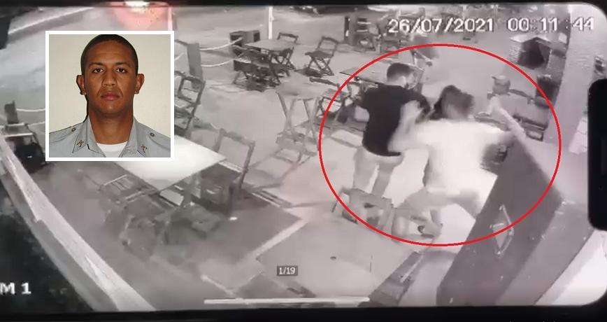Acusados de matar policial militar espancado durante briga em distribuidora se entregam em delegacia