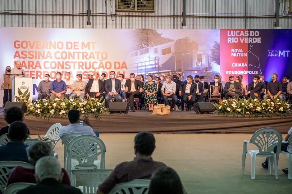 Ferrovia Estadual vai impactar 26 municípios que concentram 41% da produção de grãos de Mato Grosso
