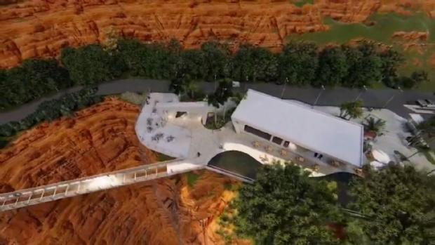 Portão do Inferno pode virar complexo turístico com passarela transparente sobre precipício e mirante; veja vídeo