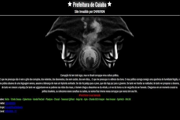 Ataque hacker aos sites da UFMT e prefeitura não causaram danos aos bancos de dados