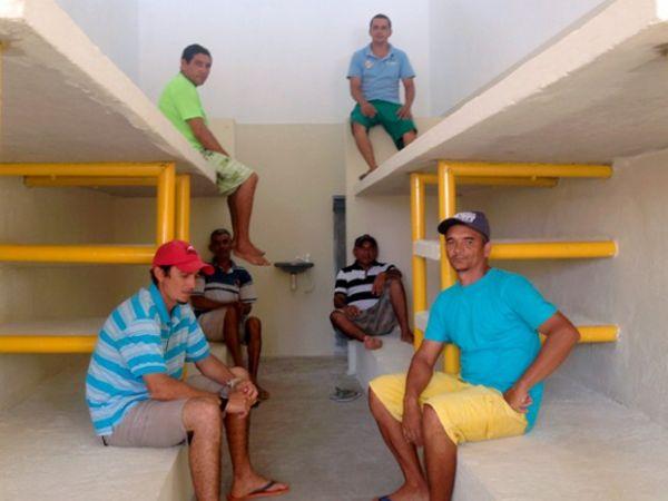 Presos ajudaram a construir o Centro de Detenção de Apodi, no RN