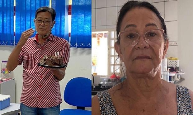 Toshio Doi e Heloise Maria de Moraes, duas vítimas da Covid-19