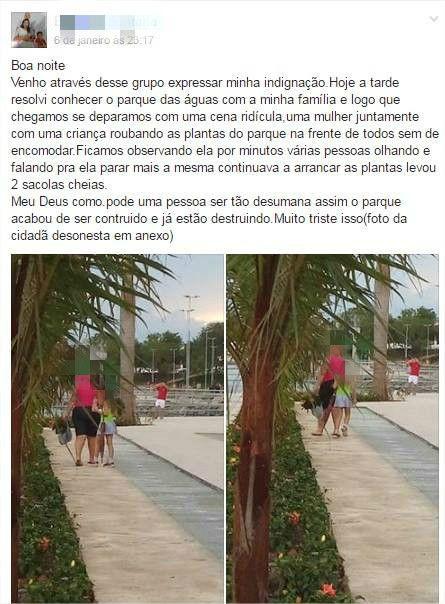 """Com segurança reduzida, Parque das Águas é alvo de vandalismo e """"furto de plantas"""""""