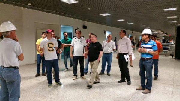 Governador e equipe da Secid estiveram no terminal no domingo.