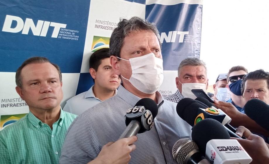 """Tarcísio afirma que candidatura ao Senado representando Mato Grosso """"depende da decisão de Bolsonaro"""""""