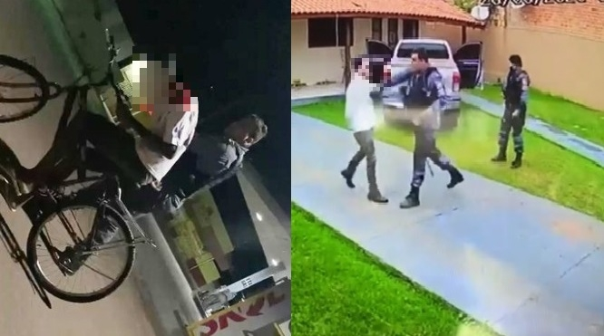 Tenente já foi filmado agredindo um advogado e um adolescente