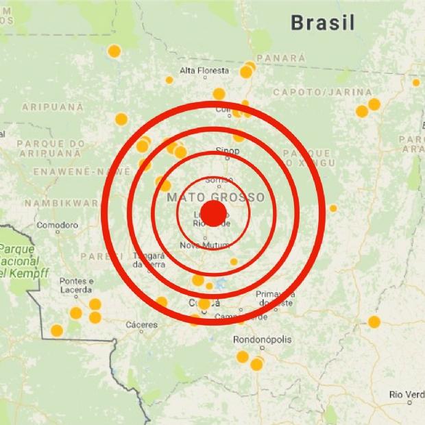 Terremoto em Rondonópolis foi o segundo registrado em MT este ano; 45 no ano passado