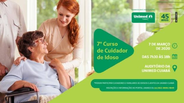 Unimed Cuiabá abre inscrições para 7º Curso de Cuidadores de Idosos com Demência