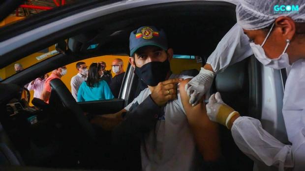 Rondonópolis é a 1ª cidade de MT a vacinar profissionais da segurança pública