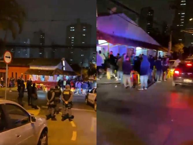 PM dispersa aglomeração de pessoas sem máscaras em bar de Cuiabá;  veja vídeo
