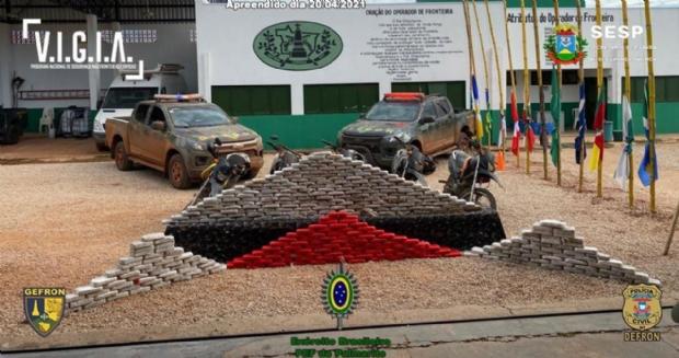 Forças de Segurança apreendem mais de R$ 6,4 mi em drogas após perseguição e troca de tiros com bandidos