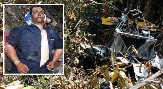 Após três dias, piloto de avião que caiu em floresta é encontrado vivo