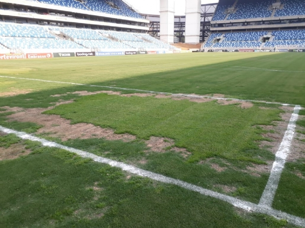 Partida do Brasileirão é suspensa pela CBF por má condição do gramado da Arena Pantanal