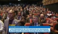 Vice-presidente do TCE participa da solenidade de posse dos deputados