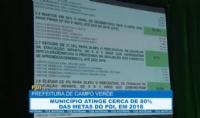 Campo Verde atinge 80% das metas do PDI, em 2018