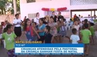 Crianças atendidas pela Pastoral da Criança ganham festa de Natal