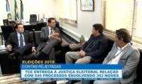 TCE entrega à Justiça Eleitoral relação de gestores com contas rejeitadas