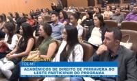 Acadêmicos de Direito de Primavera do Leste participam do TCEstudantil