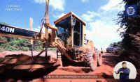 Obras de pavimentação e reconstrução da MT 220