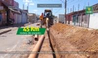 Prefeitura entrega mais 45Km de tubulação de rede de esgoto