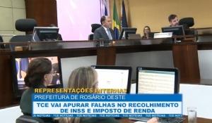 TCE vai apurar falhas no recolhimento de INSS e IR na Prefeitura de Rosário Oeste