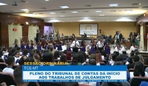 TCE dá inicio aos trabalhos de apreciação de processos no tribunal pleno