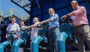 Governador visita obras em andamento e inaugura ETA em Chapada dos Guimarães