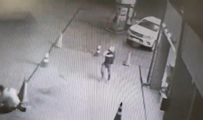 Vídeo mostra homem sendo executado a tiros por empresário em posto de gasolina