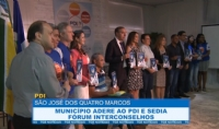 São José dos Quatro Marcos adere ao PDI e sedia Fórum Interconselhos