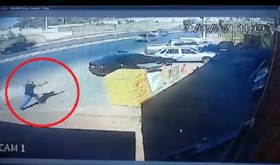 OD - Vídeo mostra momento que policial penal mata bandido com tiro na cabeça em VG