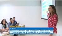 Representantes dos municípios adesos ao PDI participam de um dia de interação e treinamento