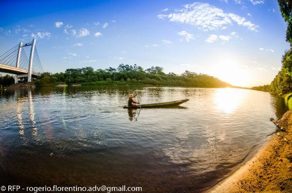 Pescador no Rio Cuiabá