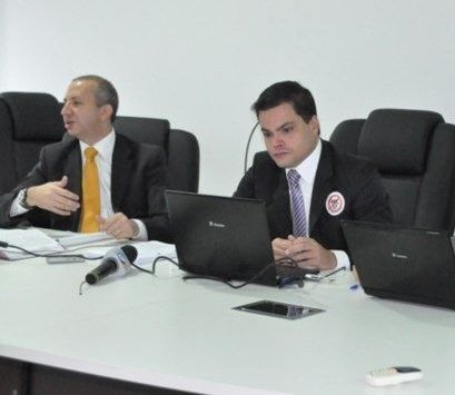 Promotores de Justiça Danilo Lovisaro do Nascimento e Rodrigo Curti