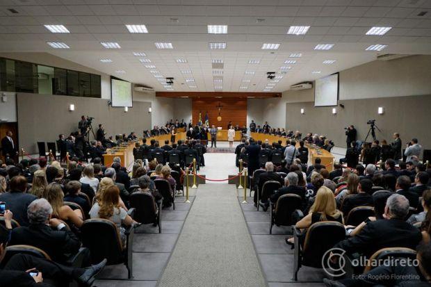 Auditório do Tribunal durante sessão do Pleno