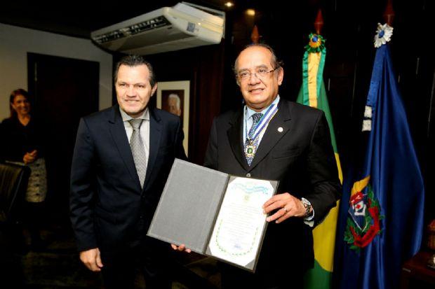 Silval da Cunha Barbosa e Gilmar Mendes