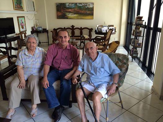 Wilson Santos com o casal mais querido da cidade, Aecim e Celcita Tocantins